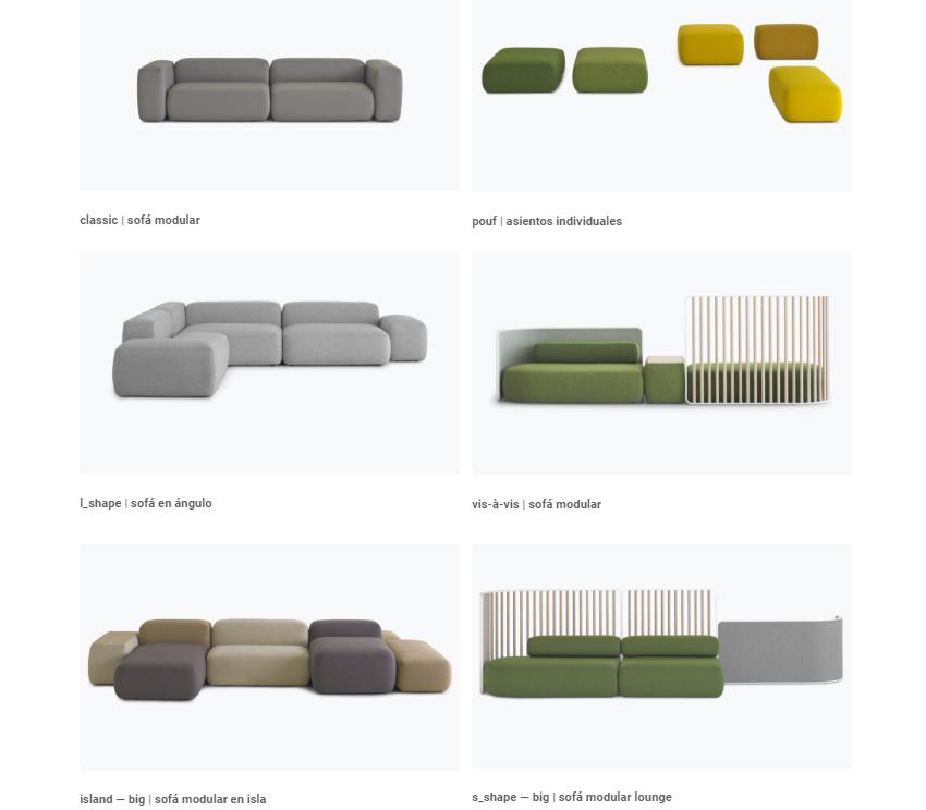 Lapalma Salas de diseño PLUS - opciones