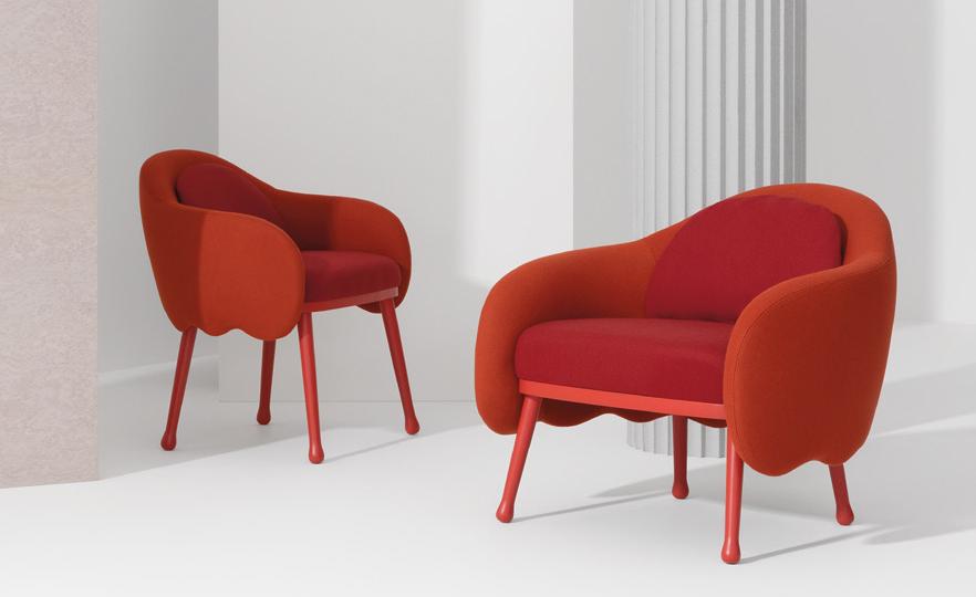 Silla y Poltrona Corolla Lounge de Cristina Celestino para Billiani