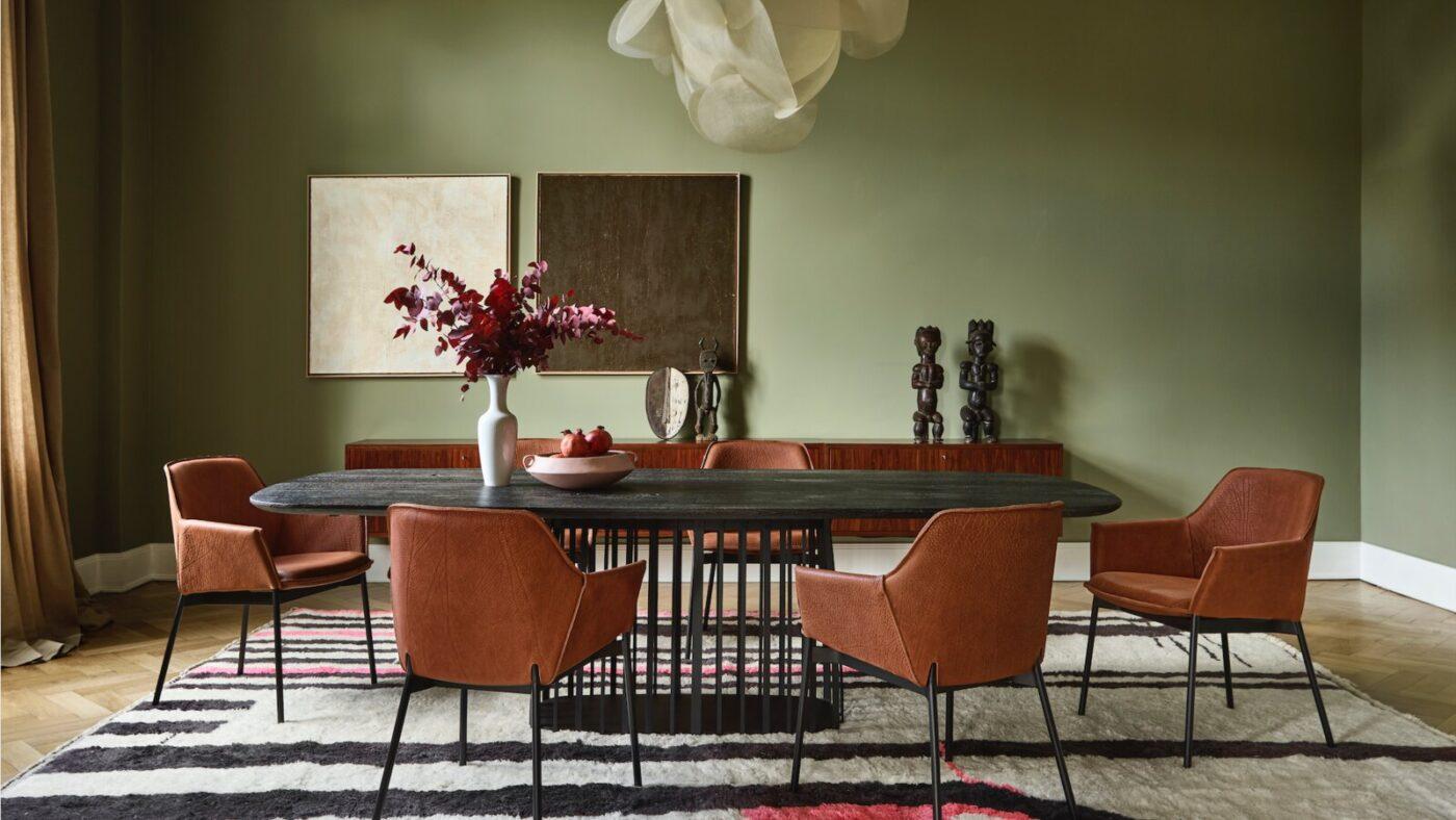 Presentación de la silla Grace de Freifrau y la suave elegancia del cuero