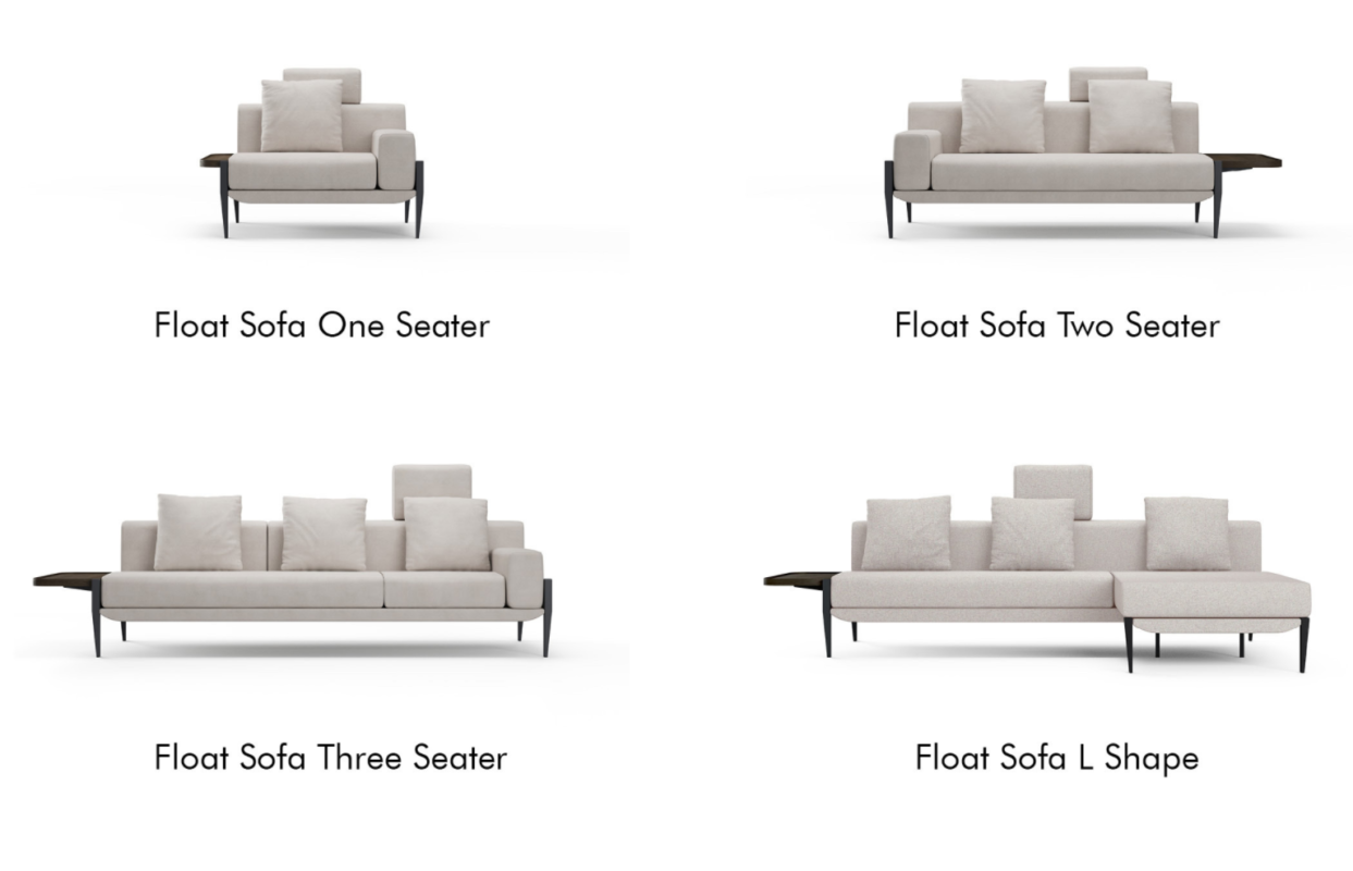 Versiones de la colección Sofá FLOAT de Michele De Lucchi para Stellar Works